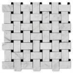 Basket-Weave-Mosaic-Carrara-Marble