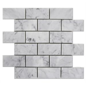 Carrara-Marble-Subway-Mosaic-2x4-1