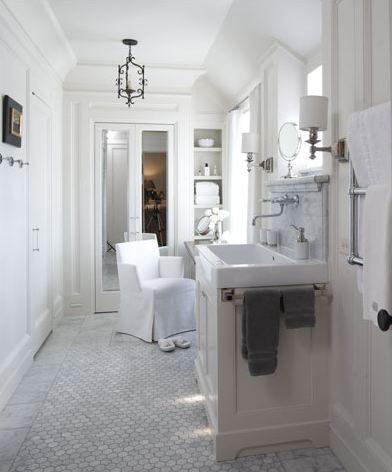 Carrara marble hexagon mosaic 2 wholesale marble tiles - Marble look bathroom floor tiles ...