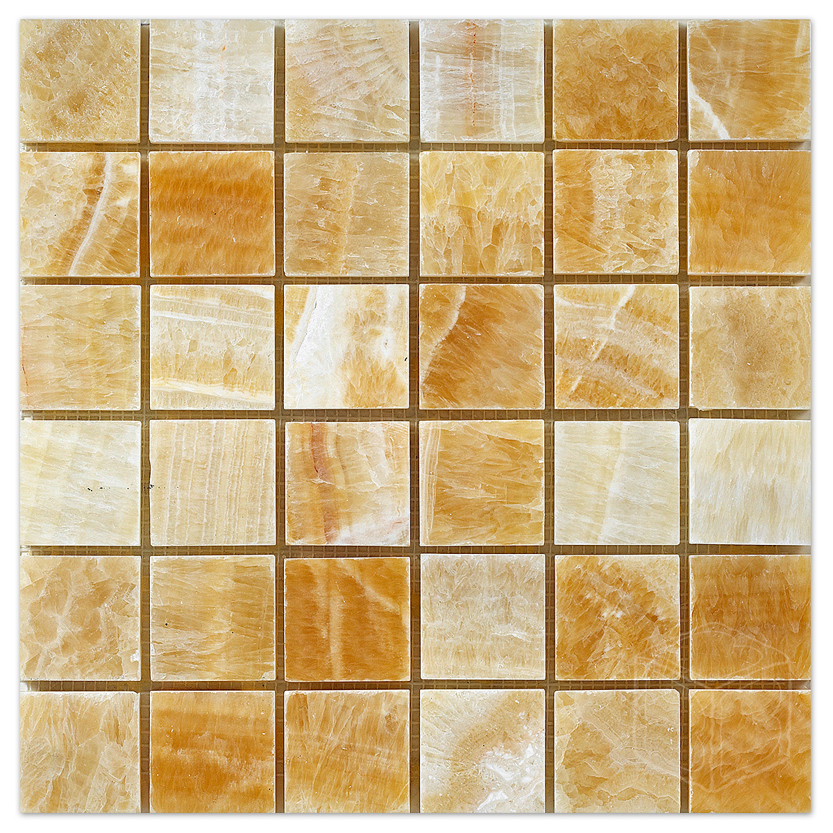 Honey Onyx Marble Mosiac 2×2 Polished
