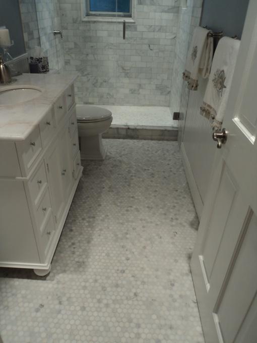 Carrara Marble Hexagon Mosaic 1